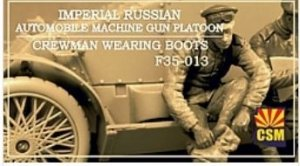 Copper State Models F35-013 Imperial Russian Automobile Machine Gun Platoon crewman wearing boots 1/35