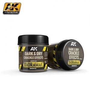 AK Interactive AK 8032 Dark & Dry Crackle Effects 100ML