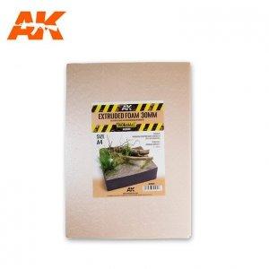 AK Interactive AK 8099 EXTRUDED FOAM 30MM SIZE A4  (pianka do budowy)