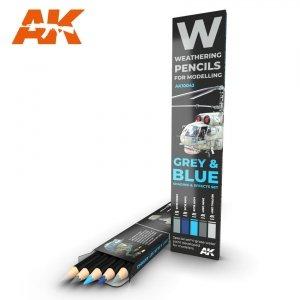 AK Interactive AK 10043 GREY & BLUE: SHADING & EFFECTS SET