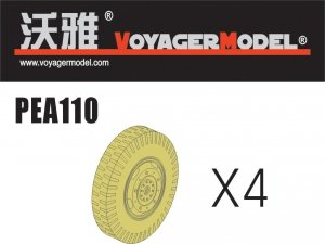 Voyager Model PEA110 Road Wheels for Sd.Kfz.234 Pattern 1 (For DRAGON) 1/35