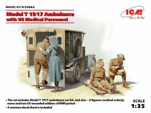 ICM 35662 Model T 1917 Ambulance with US Medical Personnel (1:35)