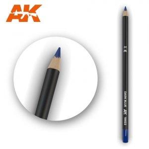 AK Interactive AK 10022 Watercolor Pencil DARK BLUE