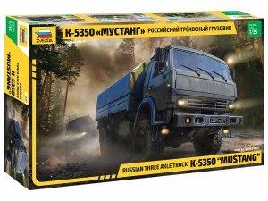 Zvezda 3697 Russian three axle truck K-5350 MUSTANG 1/35