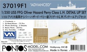 Pontos 37019F1 USS FFG Oliver Hazard Perry Class Long Hull Detail Up Set ADVANCED (1:350)