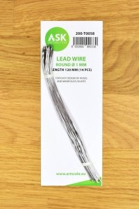 ASK T0058 Lead Wire - Round Ø 1 mm x 120 mm (14 pcs)