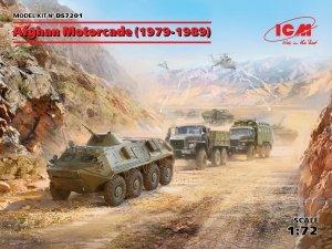 ICM DS7201 Afghan Motorcade (1979-1989) (URAL-375D, URAL-375A, ATZ-5-375, BTR-60PB) 1/72
