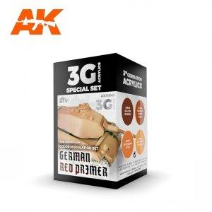 AK Interactive AK 11641 GERMAN RED PRIMER MODULATION SET 4x17 ml