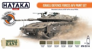 Hataka Hobby HTK-CS114 Israeli Defence Forces AFV Paint Set