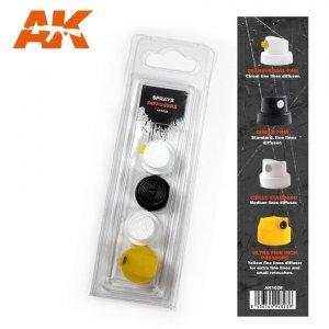 AK Interactive AK 1028 SPRAY DIFUSSERS SET 1