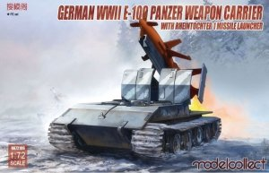 Modelcollect UA72106 German WWII E-100 Panzer Weapon Carrier with Rheintochter 1 Missile Launcher 1/72