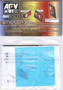 AFV Club AC35018 Sticker for simulating Anti Reflection Coating Lens, USMC LAV-25 Family (1:35)