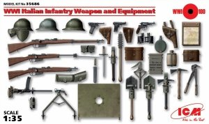 ICM 35686 WWI Italian Infantry Weapon and Equipment 1/35