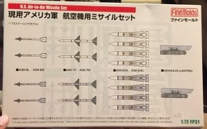 Fine Molds FP31 U.S. Air-to-Air Missile Set 1/72