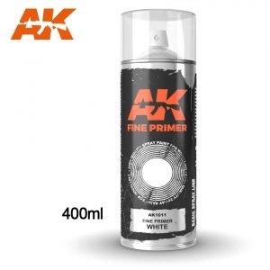 AK Interactive AK 1011 FINE PRIMER WHITE SPRAY 400ml
