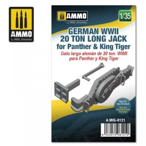 Ammo of Mig 8121 German WWII 20 ton Long Jack for Panther & King Tiger 1/35
