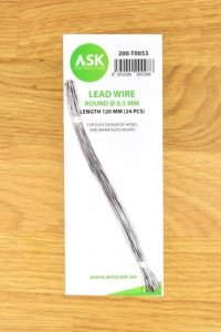 ASK T0053 Lead Wire  Round Ø 0,5 mm x 120 mm (24 pcs)