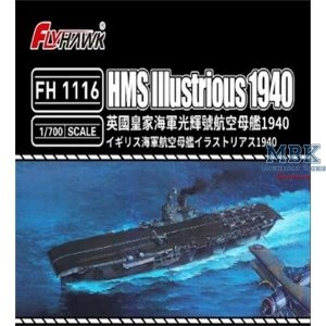FlyHawk Model FH1116 HMS Illustrious 1940 1/700