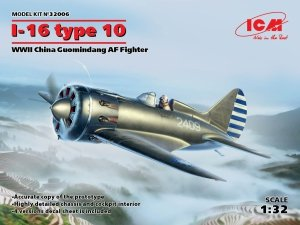 ICM 32006 I-16 type 10 WWII China Guomindang AF Fighter 1/32