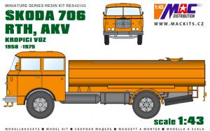 MAC RES43103 Škoda 706 RTH, AKV 1 1/43