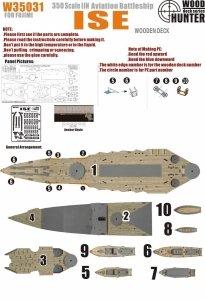 Wood Hunter W35031 Wood deck IJN Ise Aircraft Battleship for Fujimi 1/350