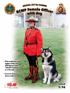 ICM 16008 RCMP Female Officer with dog (1:16)