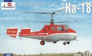 A-Model 07252 Kamov Ka-18 Soviet civil helicopter 1:72
