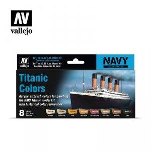 Vallejo 71646 Titanic Colors 8 x 17 ml