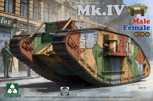 Takom 2076 WWI Heavy Battle Tank Mk.IV Male/Female 2 In 1 1/35