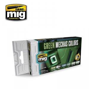 AMMO of Mig Jimenez 7149 GREEN MECHAS COLORS 6x17ml