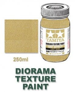 Tamiya 87122 Diorama Texture Paint 250ml - Grit Effect, Light Sand