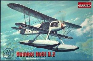 Roden 453 Heinkel He 51 B-1 floatplane fighter 1/48