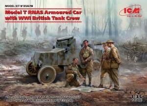 ICM 35670 Model T RNAS Armoured Car with WWI British Tank Crew 1/35