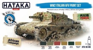 Hataka HTK-BS106 WW2 Italian AFV paint set 6x17 ml