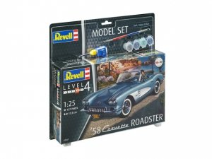 Revell 67037 58 Corvette Roadster Model Set (1:25)