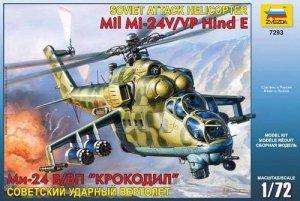 Zvezda 7293 Soviet attack helicopter MIL MI-24 V/VP Hind E (1:72)