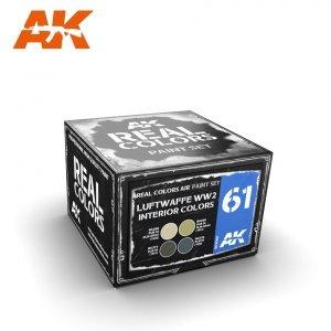 AK Interactive RCS061 LUFTWAFFE WW2 INTERIOR COLORS SET 4x10ml