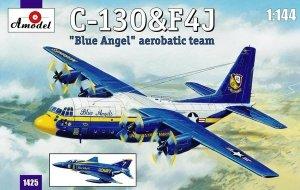 Amodel 01425 C-130 & F4J Blue Angel 1:444