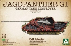 Takom 2106 JAGDPANTHER G1 GERMAN TANK DESTROYER LATE PRODCTION 1/35