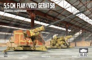 16.02 VK35001 5,5cm Flak (VG2) Gerät 58 Automatische Flugabwehrkanone 1/35