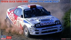 Hasegawa 20466 Toyota Celica Turbo 4WD Grifone 1994 San Remo Rally 1/24