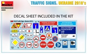 Miniart 35635 TRAFFIC SIGNS. UKRAINE 2010's 1/35