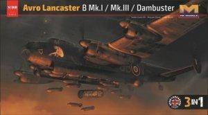 HK Models 01E012 Avro Lancaster B MkI/ B MkIII/ Dambuster 3 in 1 1/32