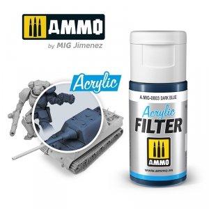 Ammo of Mig 0803 ACRYLIC FILTER Dark Blue 15 ml
