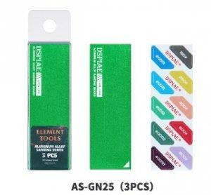DSPIAE AS-GN25 ALUMINUM ALLOY SND BOARD GREEN 3PCS / Aluminiowa podkładka do papierów ściernych
