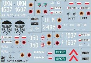 ToRo Model 35D75 BRDM w Wojsku Polskim cz.2 1/35