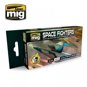 AMMO of Mig Jimenez 7131 SPACE FIGHTERS SCI-FI COLORS 6x17ml