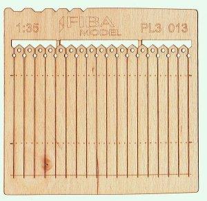 Model scene PL3-013 Wooden fence type 13 Drewniany płot 1/35