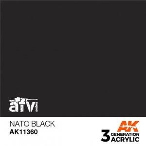 AK-Interactive AK 11360 NATO Black 17ml