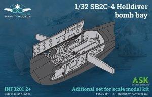 Infinity Models INF3201-02+ SB2C-4 Helldiver bomb bay 1/32